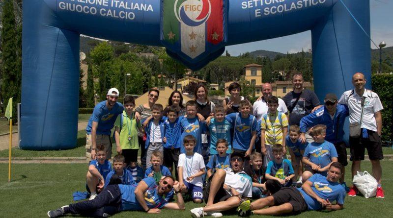 I piccoli calciatori del Real San Costanzo a Converciano
