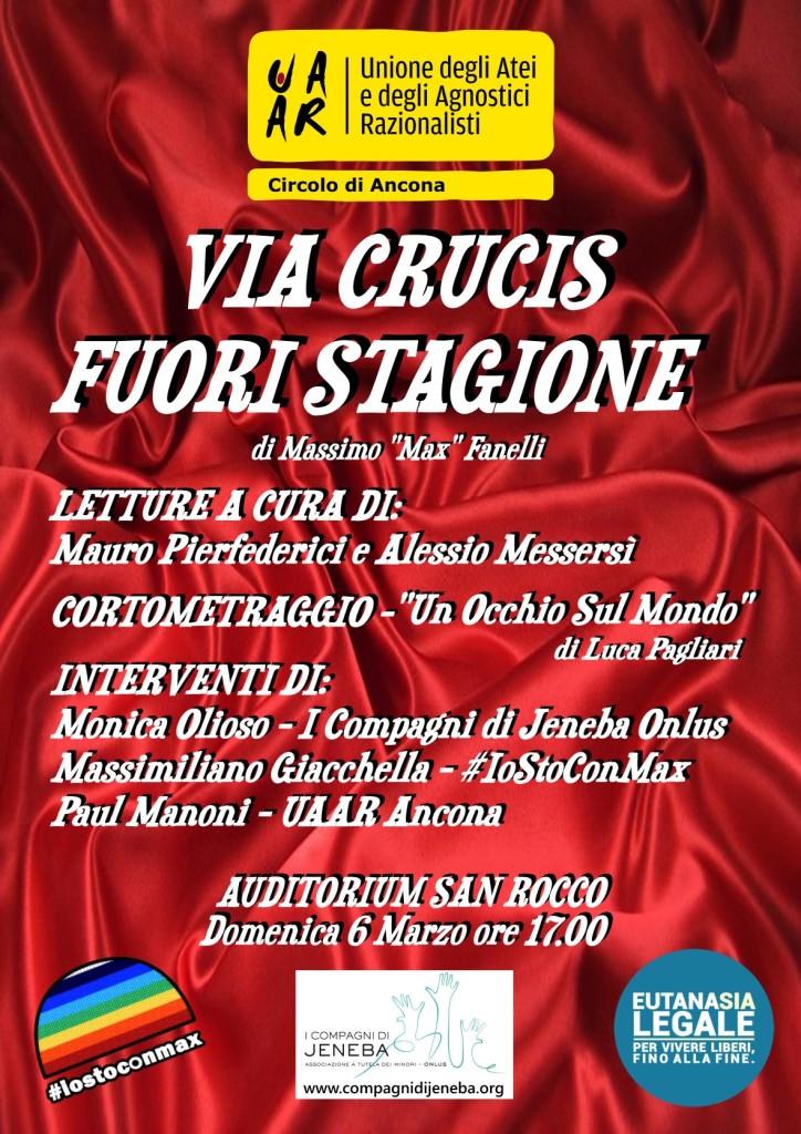 Anche il Circolo Uaar di Ancona a sostegno di Max Fanelli