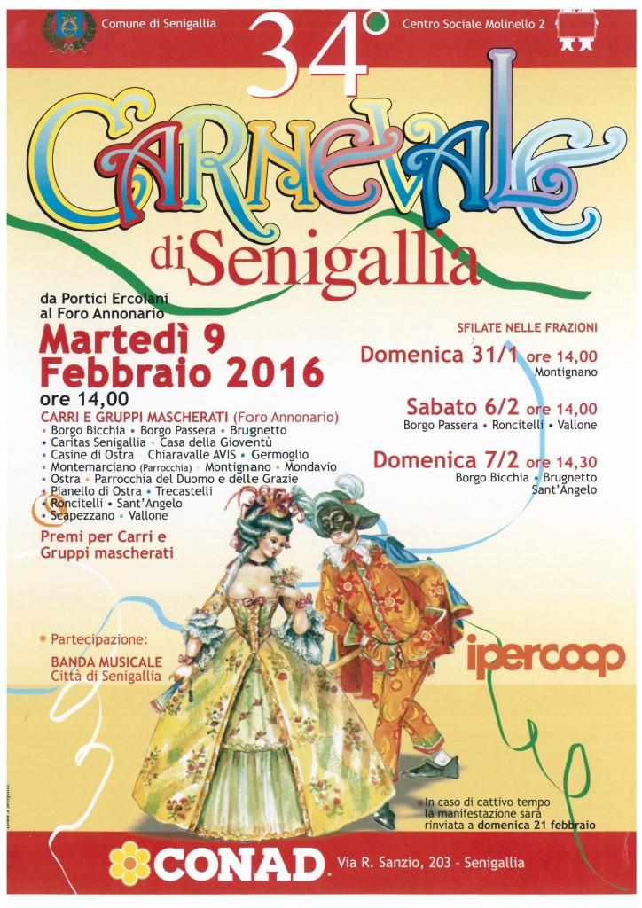 Martedì il Carnevale di Senigallia