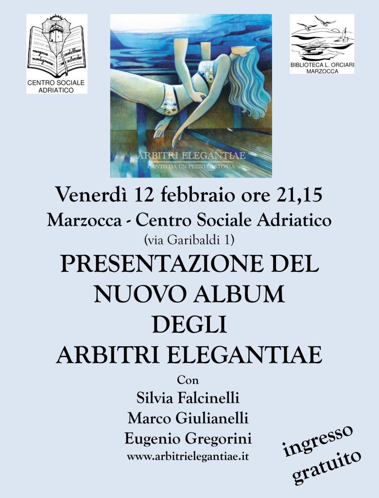 Presentazione del nuovo disco degli Arbitri Elegantiae