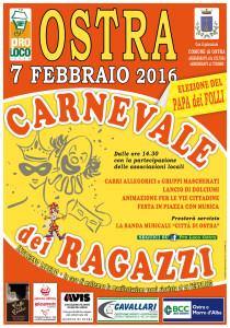 Ai nastri di partenza ad Ostra il Carnevale dei ragazzi 2016