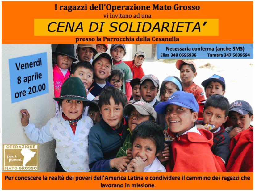 Raccolta di fondi e viveri per i poveri del Perù