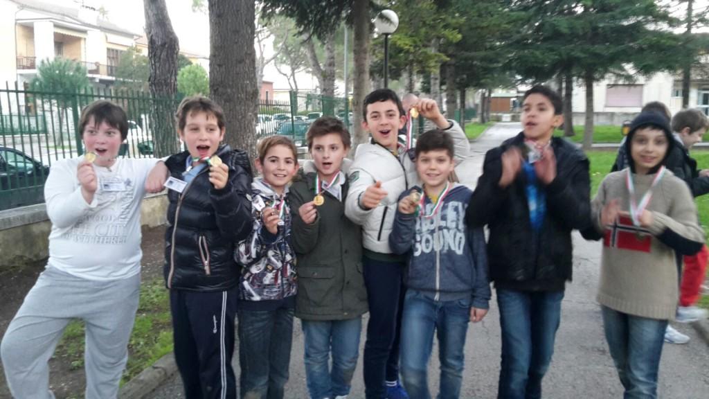 I ragazzi della Gadana di Urbino trionfano negli scacchi