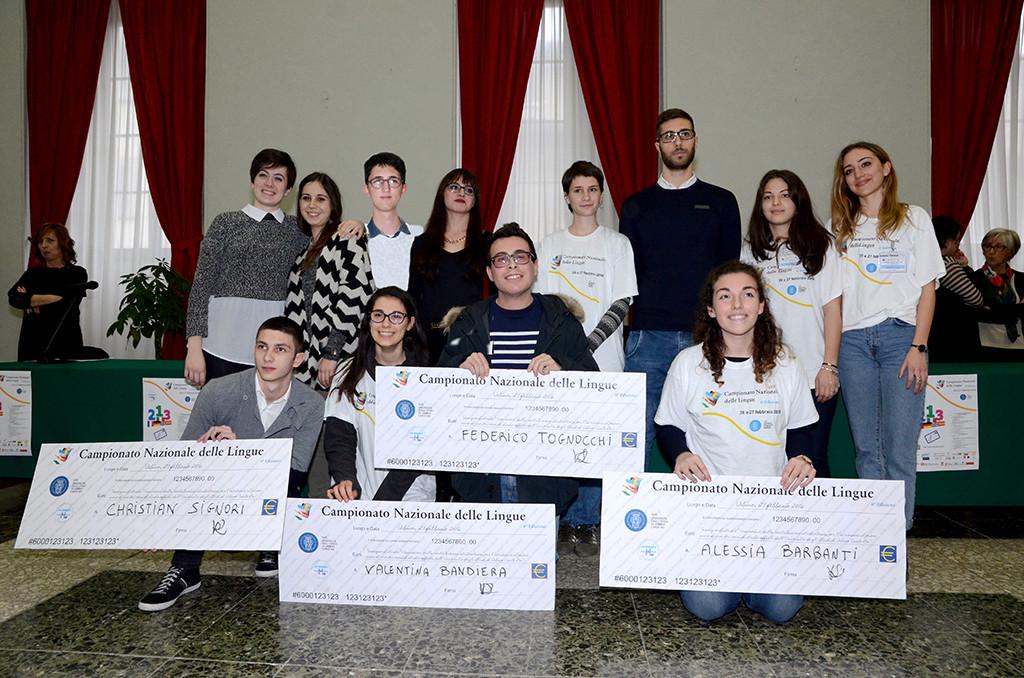Proclamati a Urbino i campioni italiani delle lingue