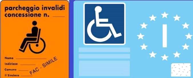 Falsifica il contrassegno auto per gli invalidi