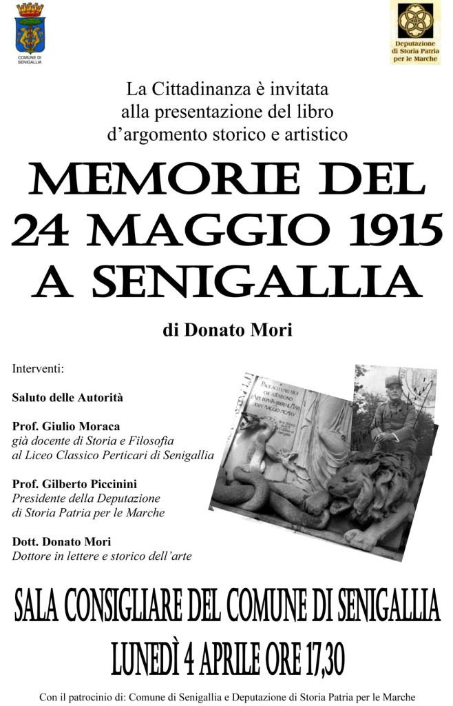 Memorie del 24 Maggio 1915 a Senigallia