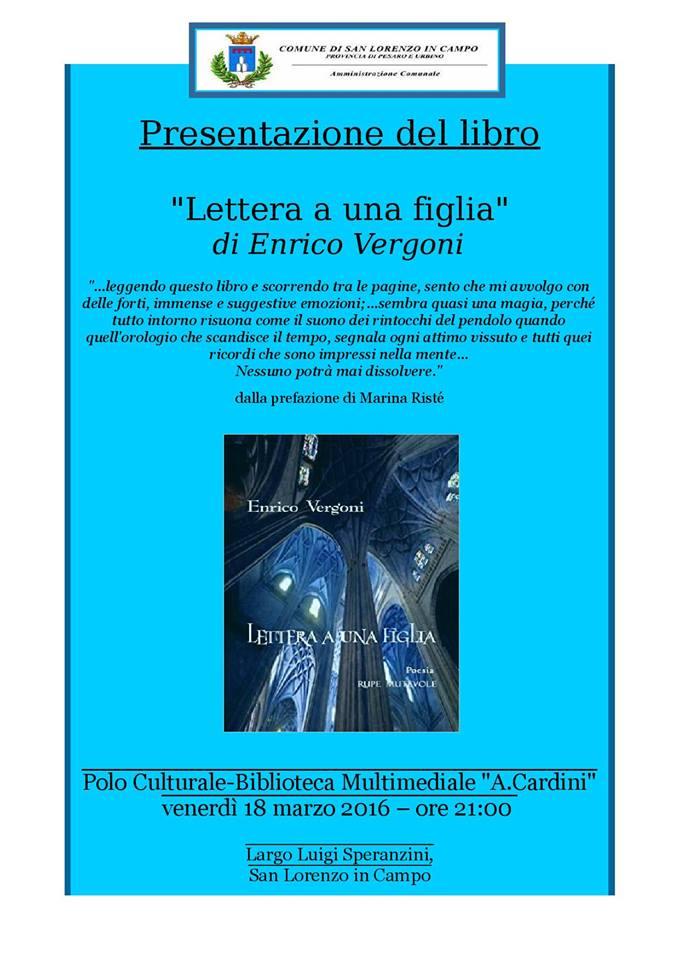 A San Lorenzo in Campo Enrico Vergoni presenta il suo libro
