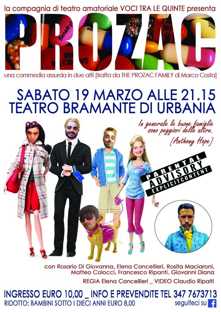 Al Teatro Bramante di Urbania il 19 marzo la commedia Prozac