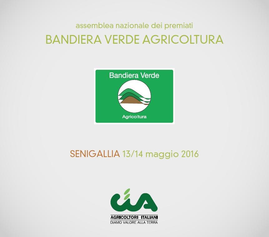 """A Senigallia Assemblea dei premiati """"Bandiera Verde Agricoltura"""" della Cia"""