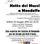 Anche Mondolfo aderisce alla Notte dei Musei