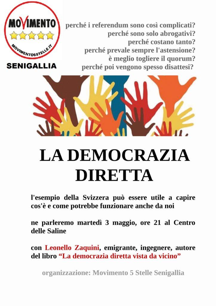 Conferenza a Senigallia su democrazia diretta e referendum