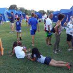 Da tutta Italia e anche dall'Ucraina per giocare a rugby al parco del Cormorano di Falconara