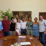 Il sindaco Seri incontra in Comune alcuni fanesi residenti all'estero