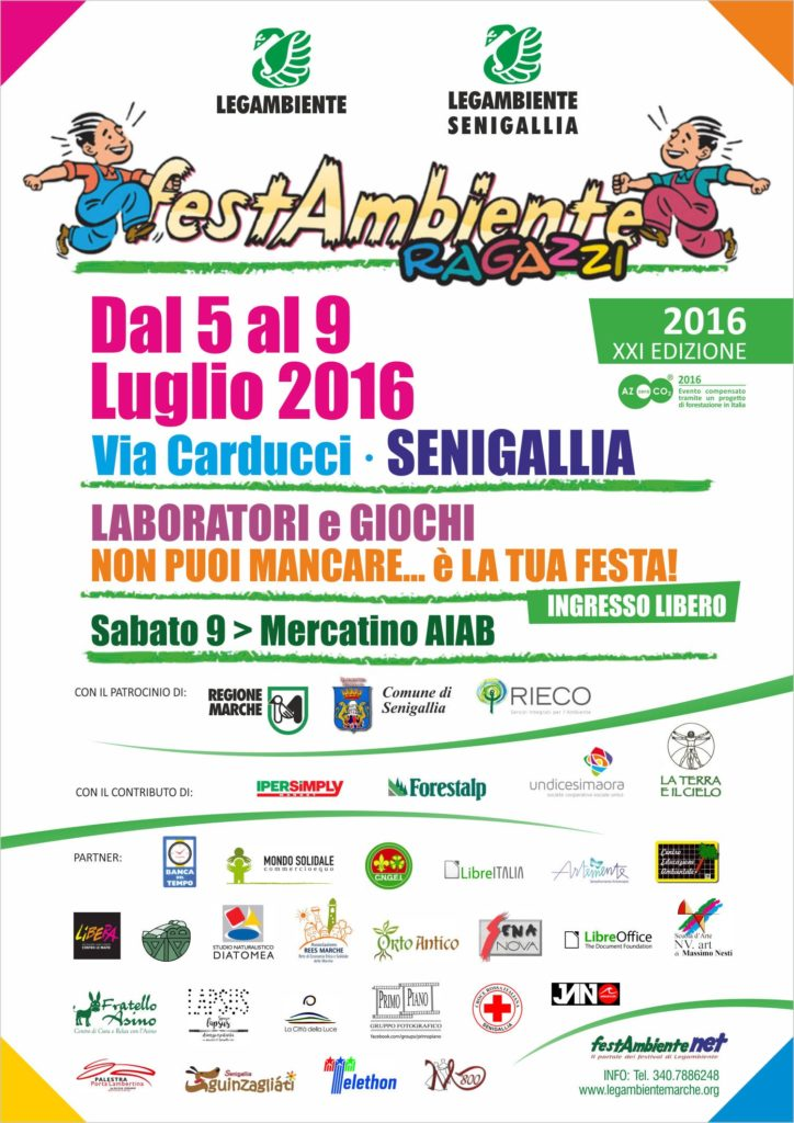 A Senigallia Festambiente Ragazzi 2016