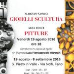A Fano una mostra dedicata alla pittura di Alba Dolci ed ai gioielli-scultura di Alberto Giorgi