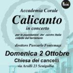 SENIGALLIA / La Calicanto in concerto per le popolazioni colpite dal terremoto