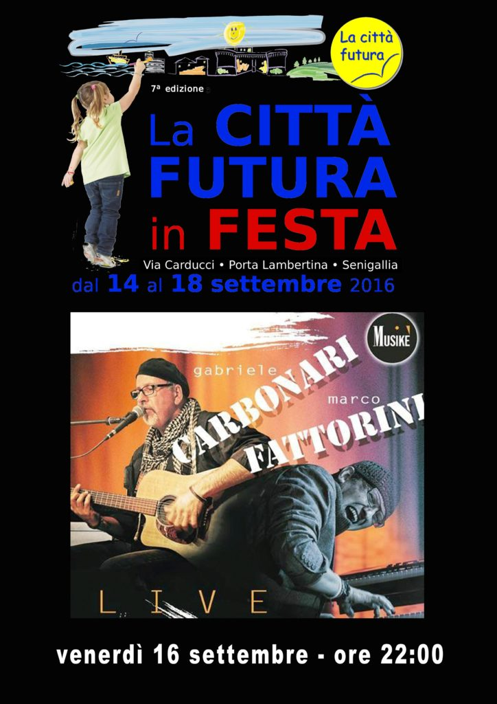 Gabriele Carbonari e Marco Fattorini venerdì a La Città Futura in Festa