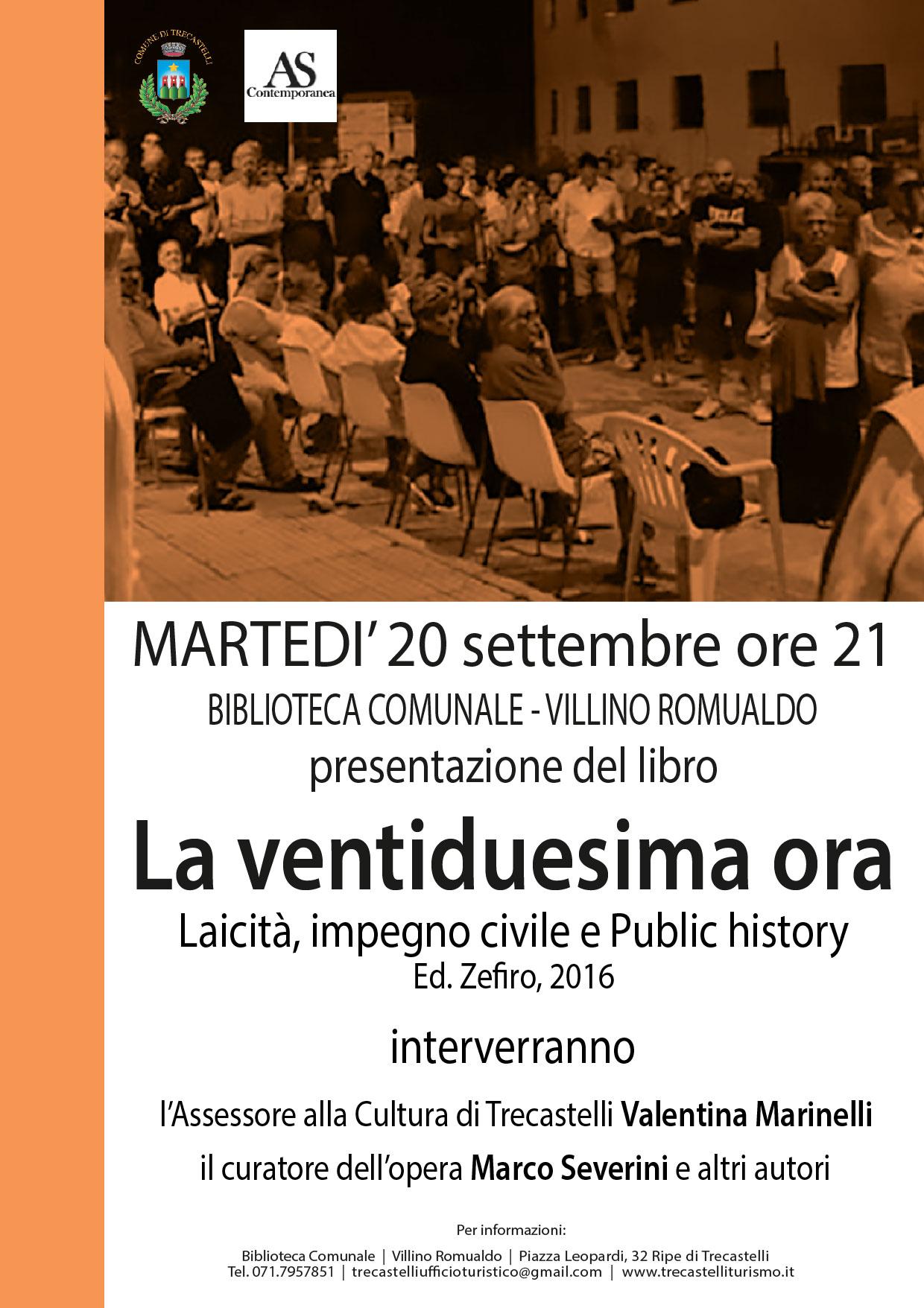 Trecastelli, al Villino Romualdo la presentazione del libro La ventiduesima ora di Marco Severini