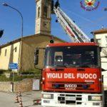 Messo in sicurezza ad Arcevia il campanile della chiesa della Croce