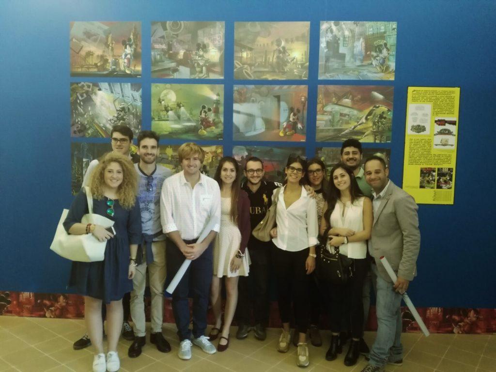 SENIGALLIA / Il Rotaract Club in visita alla mostra di Topolino a Palazzo ducale
