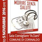 CORINALDO / Morire senza salute, sabato la presentazione del libro del dottor Gabriele Pagliariccio