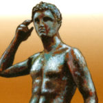 Un francobollo di Poste italiane dedicato all'Atleta di Fano