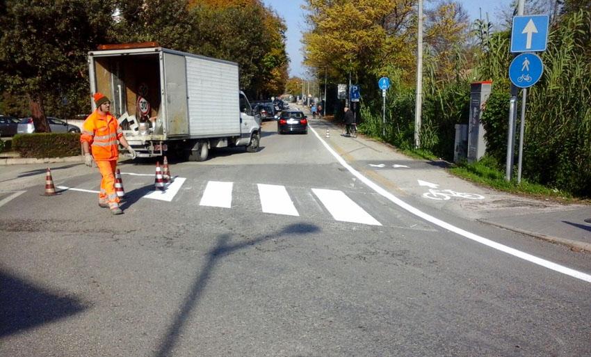 A Fano migliorata la visibilità delle piste ciclabili