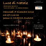 """A Castelleone di Suasa lo spettacolo teatrale """"Luce di Natale"""" di Filippo Mantoni"""