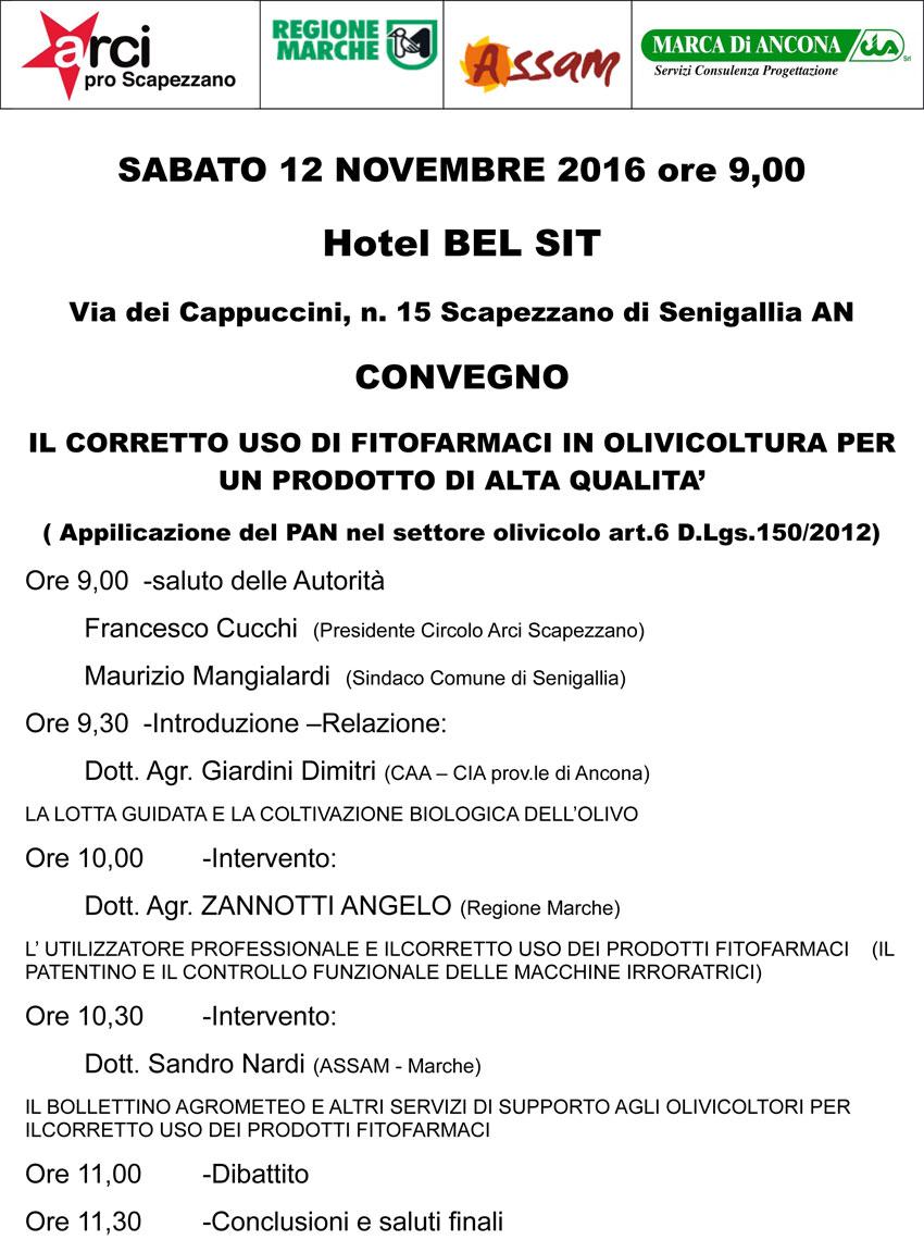 SENIGALLIA / Alla Festa dell'olio nuovo di Scapezzano un convegno sull'uso dei fitofarmaci in olivicoltura