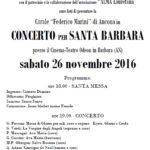 Sabato all'Odeon il concerto per Santa Barbara