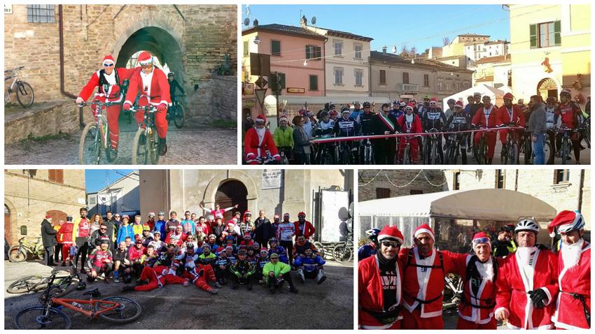 A San Lorenzo in Campo la passeggiata in bici con Babbo Natale alla scoperta delle eccellenze del territorio