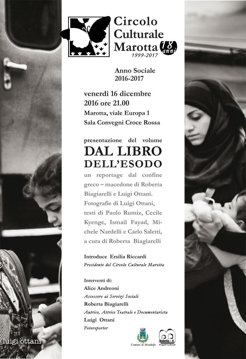 MAROTTA / Venerdì sarà presentato un bel libro sull'esodo dei migranti