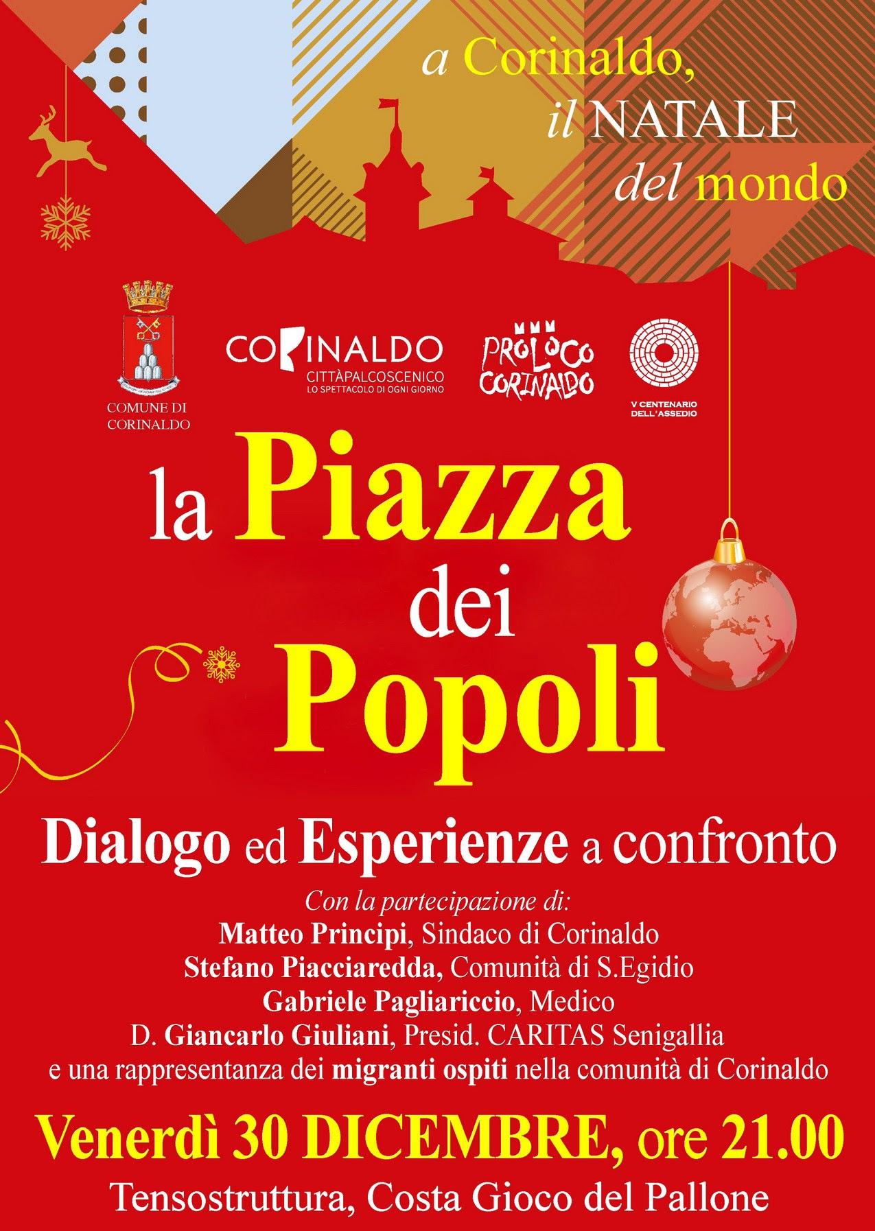 """Con """"La Piazza dei Popoli"""" Corinaldo guarda ad immigrazione ed accoglienza"""