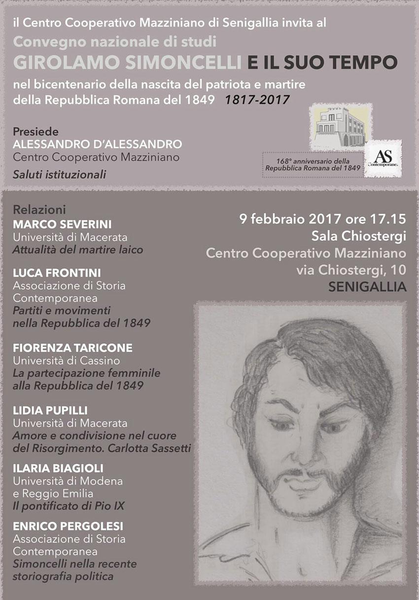 SENIGALLIA / Un convegno di storia, ma di grande attualità, per ricordare Girolamo Simoncelli