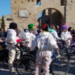 FANO / Tra i tanti visitatori del Carnevale anche i ciclisti del gruppo di For.bici