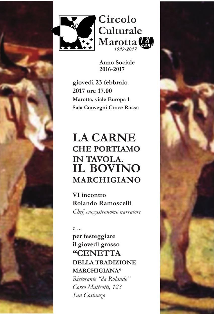 MAROTTA / Giovedì pomeriggio alla Cri incontro con Rolando Ramoscelli sulla carne che portiamo in tavola