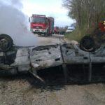 ARCEVIA / Perde la vita nell'auto in fiamme, finita fuori strada