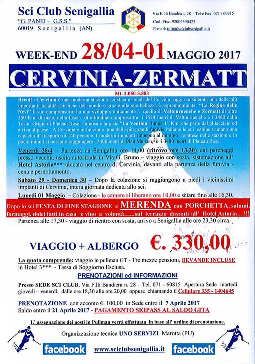 A Cervinia l'ultima gita della stagione dello Sci Club Senigallia
