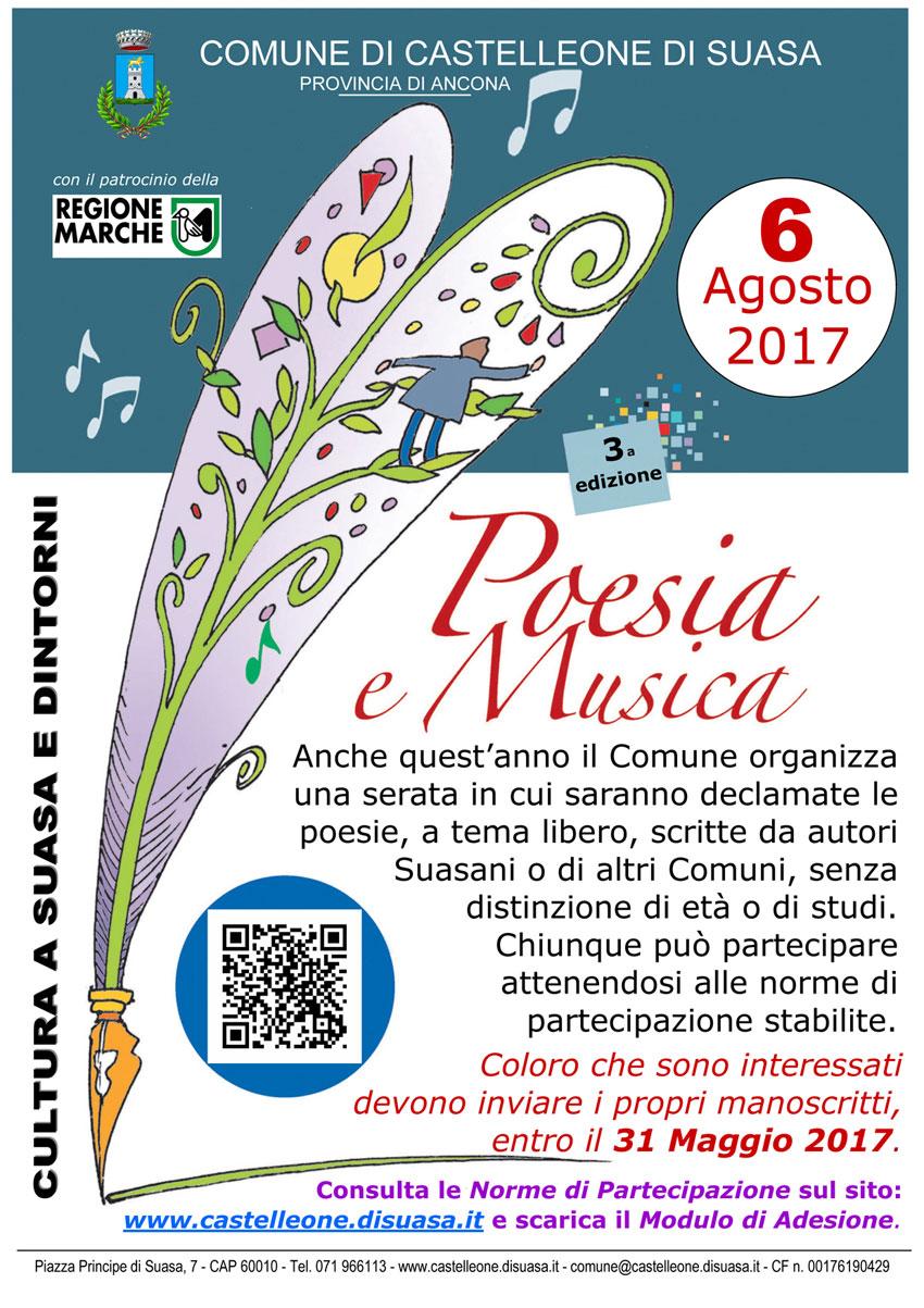 Ad agosto Castelleone di Suasa ospita la 3^ edizione di Poesia e musica