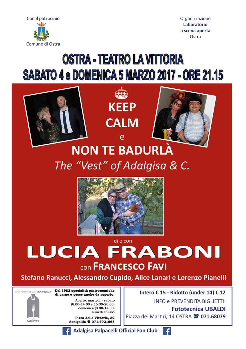 OSTRA / Sabato e domenica al Teatro La Vittoria la comicità tutta marchigiana di Lucia Fraboni