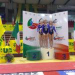 Tre giovanissime senigalliesi sul podio dei campionati nazionali Uisp di ginnastica