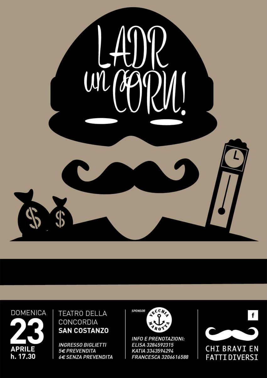 La compagnia di teatro dialettale di Marotta presenta Ladr un corn