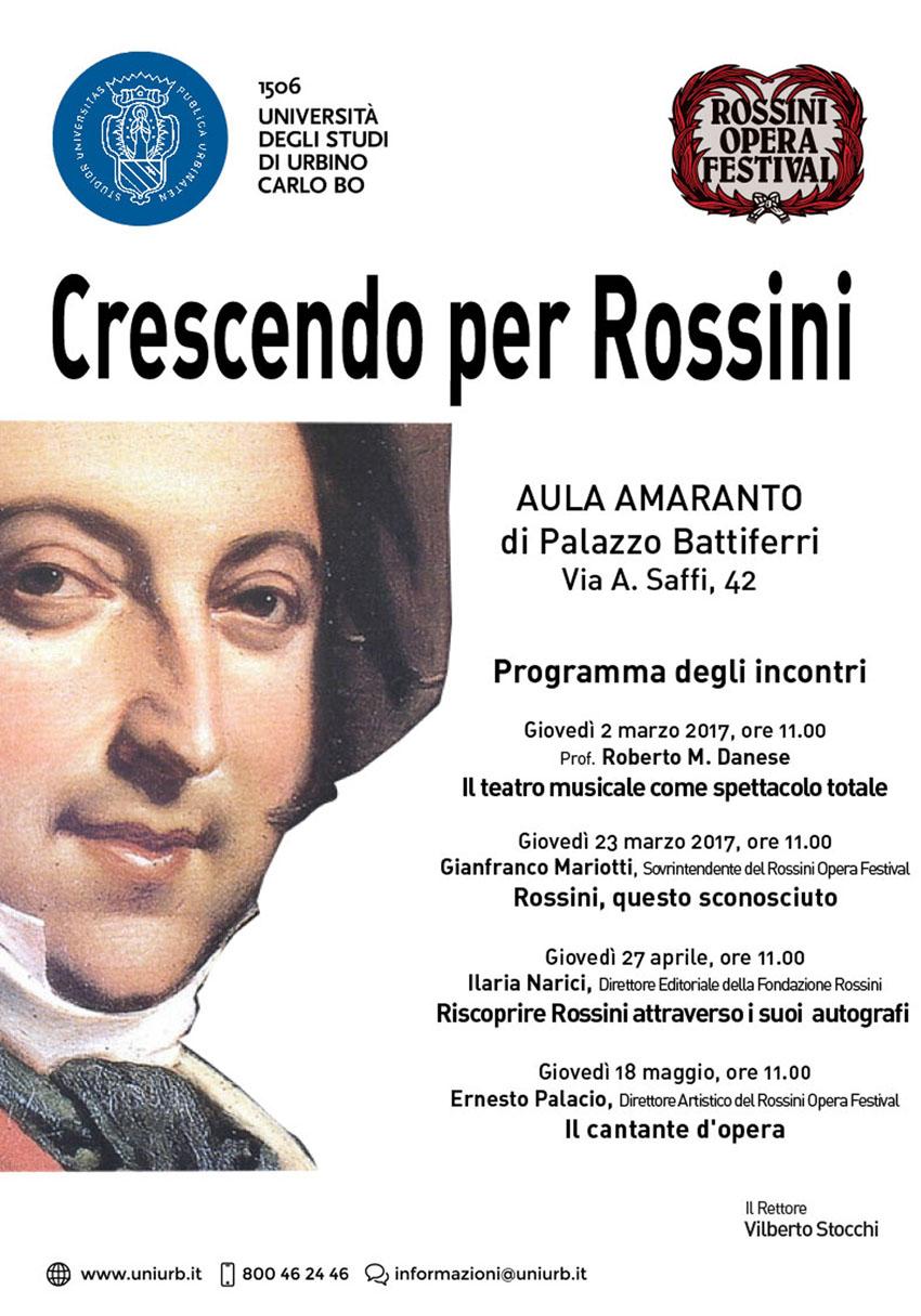 Il direttore artistico del Rof Ernesto Palacio all'Università di Urbino