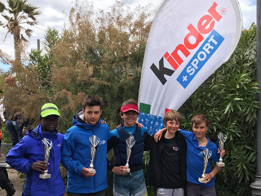 Gambelli, Conti e la squadra Optimist Sailing Park fantastici anche in Toscana
