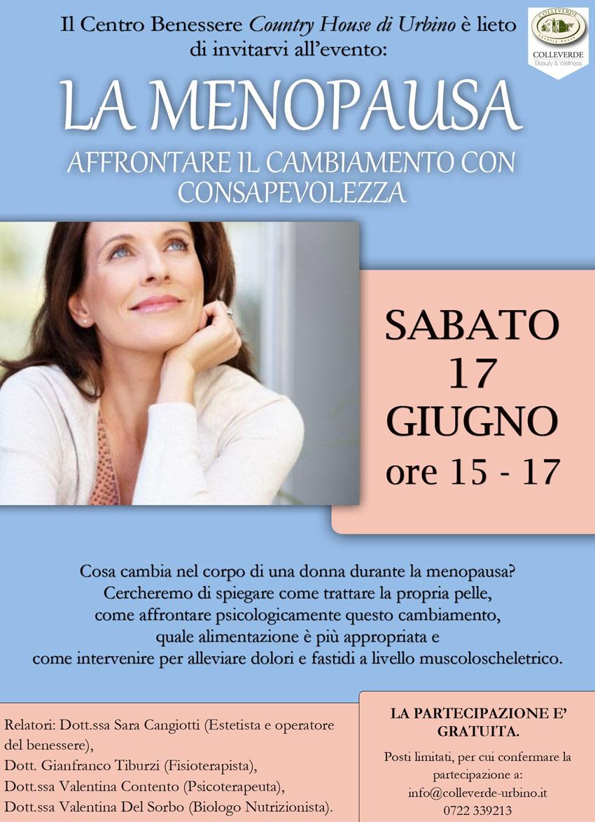 Come affrontare la menopausa con consapevolezza: se ne parla al Country House di Urbino
