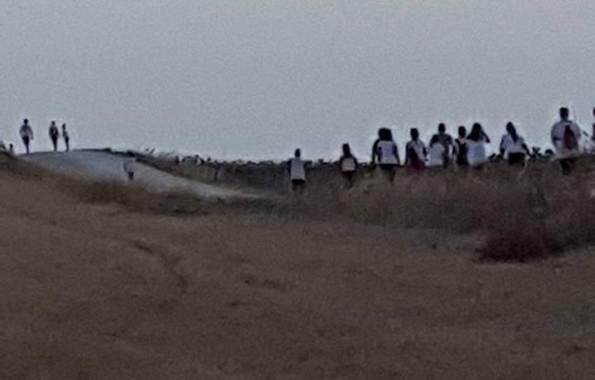 Passeggiata all'alba, con cento partecipanti, tra le splendide colline di Castelleone di Suasa