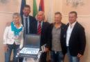 Paolo Belli ha consegnato un nuovo eco cardiografo all'ospedale di Senigallia