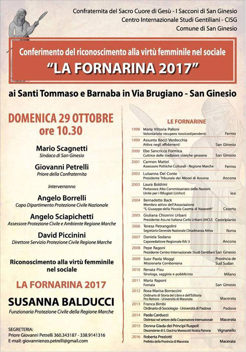 Alla senigalliese Susanna Balducci assegnato il Premio Fornarina
