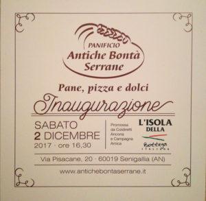 Il Panificio Antiche Bontà Serrane a dicembre arriva anche a Senigallia