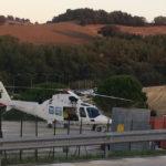 Infortunio sul lavoro a Corinaldo: operaio trasportato con l'eliambulanza all'ospedale di Torrette
